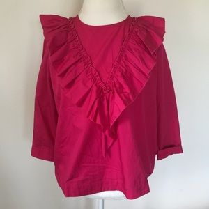 GUEST EDITOR Anthropologie ruffle blouse